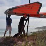 Anton helping Gerolf on launch - Антоха помогает Герольфу на старте