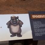The wombat was hiding in its burrow - Вомбат прятался в норе