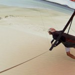 Leg in the sand - Ножкой по песку