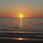 Sun sinking into the ocean ~ Солнце погружается в океан