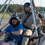 Andrey and Max (just before Max moved to the front seat) ~ Андрей и Макс (до того, как Макс пересел на переднее кресло)