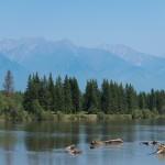 Irkut river and Tunka range ~ Река Иркут и Тункинские гольцы