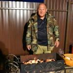 Kim Kimych cooking a barbeque ~ Ким Кимыч жарит шашлыки