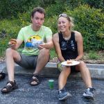 Andrey and I after the race ~ Мы с Андрюхой после гонки