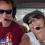 Andrey and I after we received our PPLs ~ Мы с Андрюхой после получения наших PPL-ей
