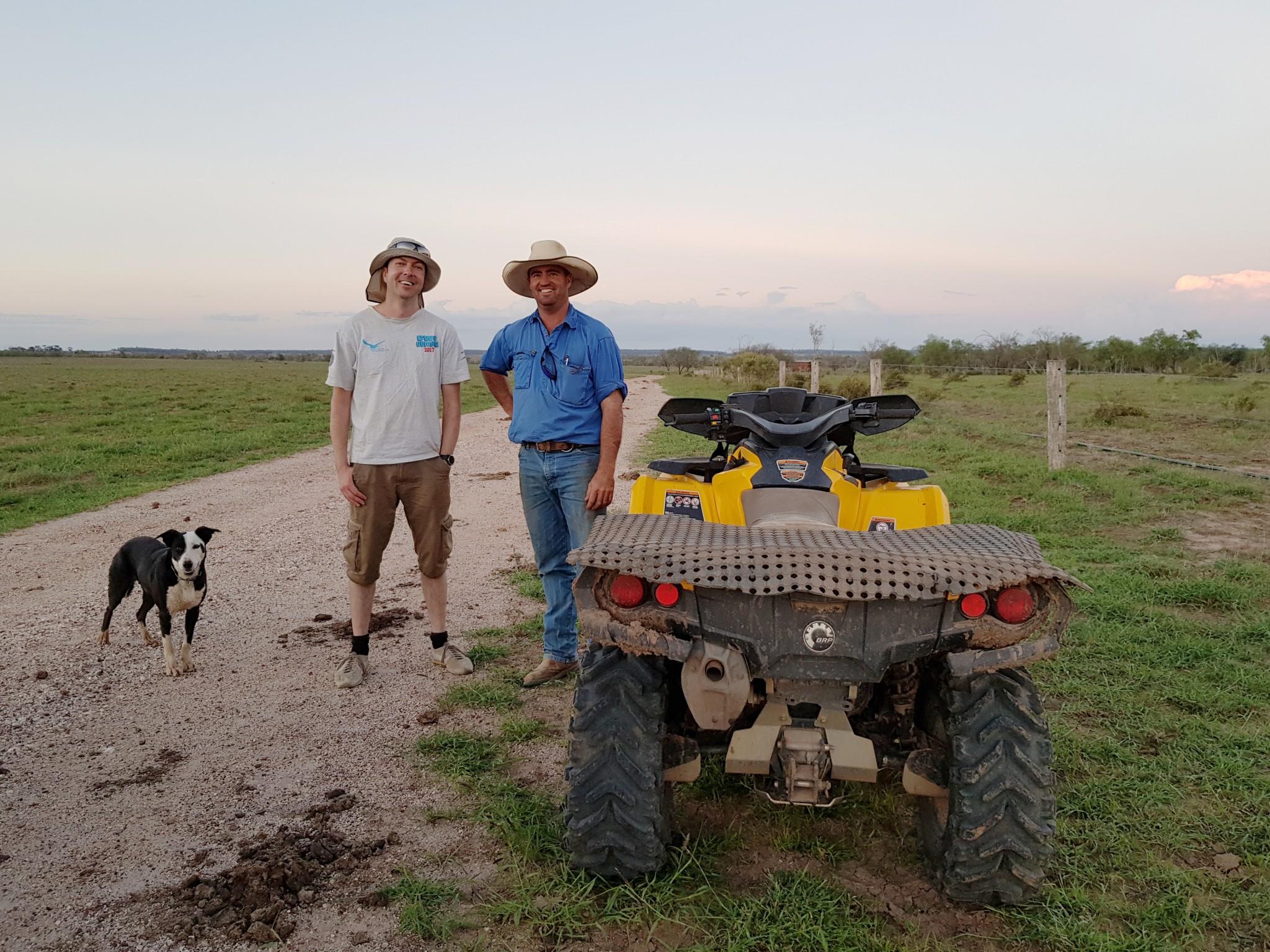 Michael and Matt ~ Миха и местный фермер Мэтт