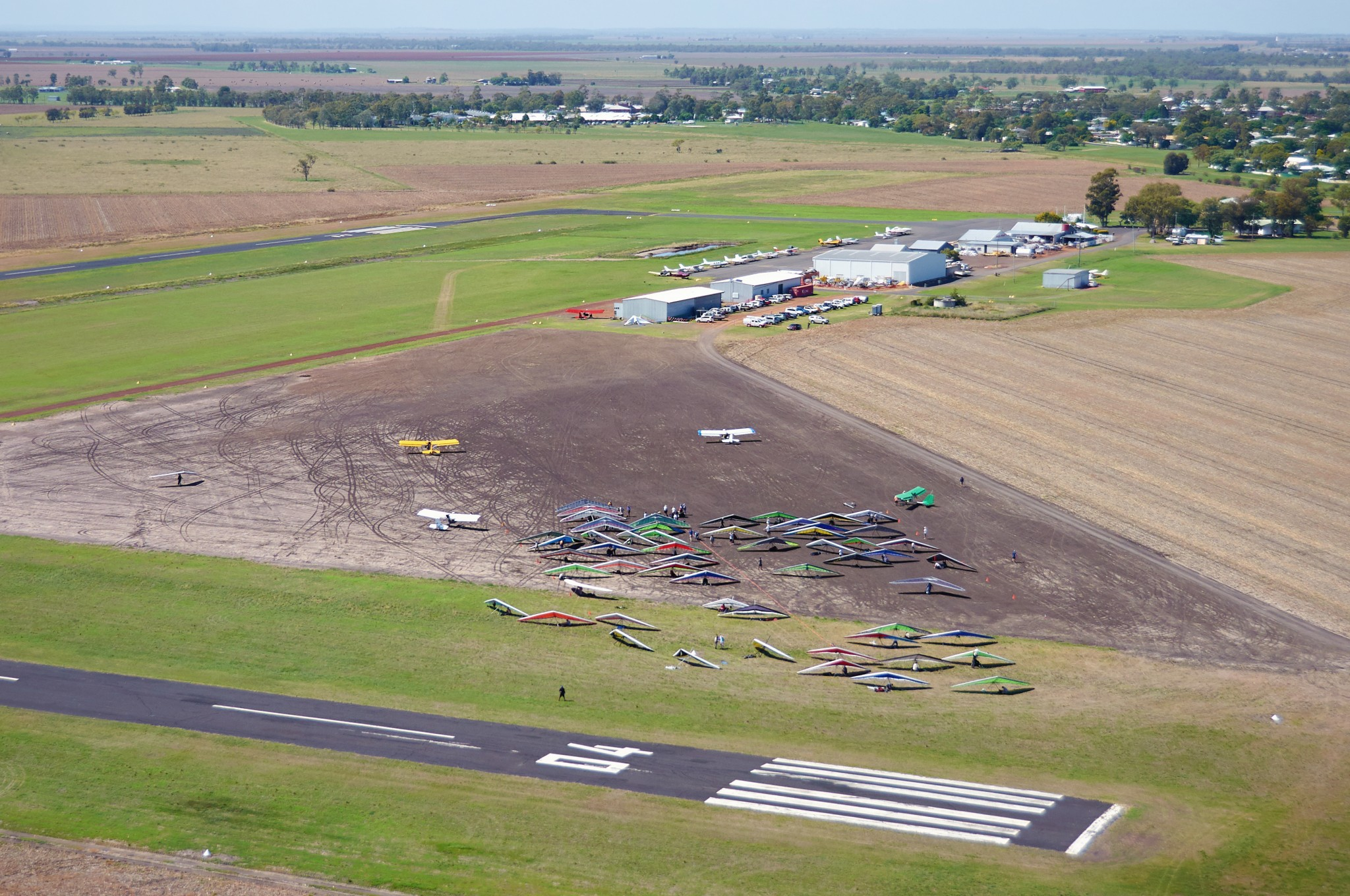 Dalby airport from above ~ Аэропорт Далби, вид сверху