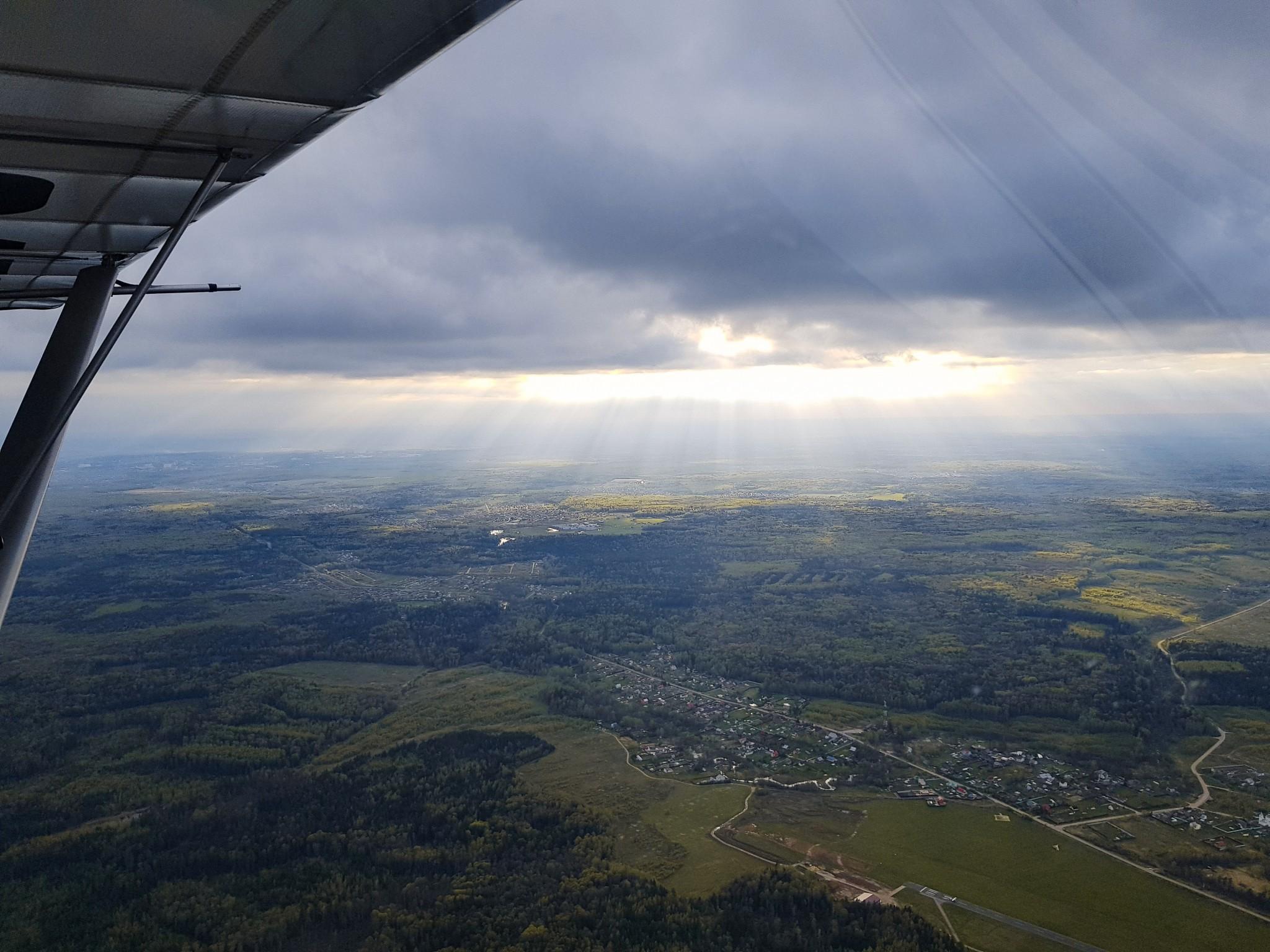 During our Flight Review at Novinki airport ~ Фото с нашей лётной проверки в Новинках
