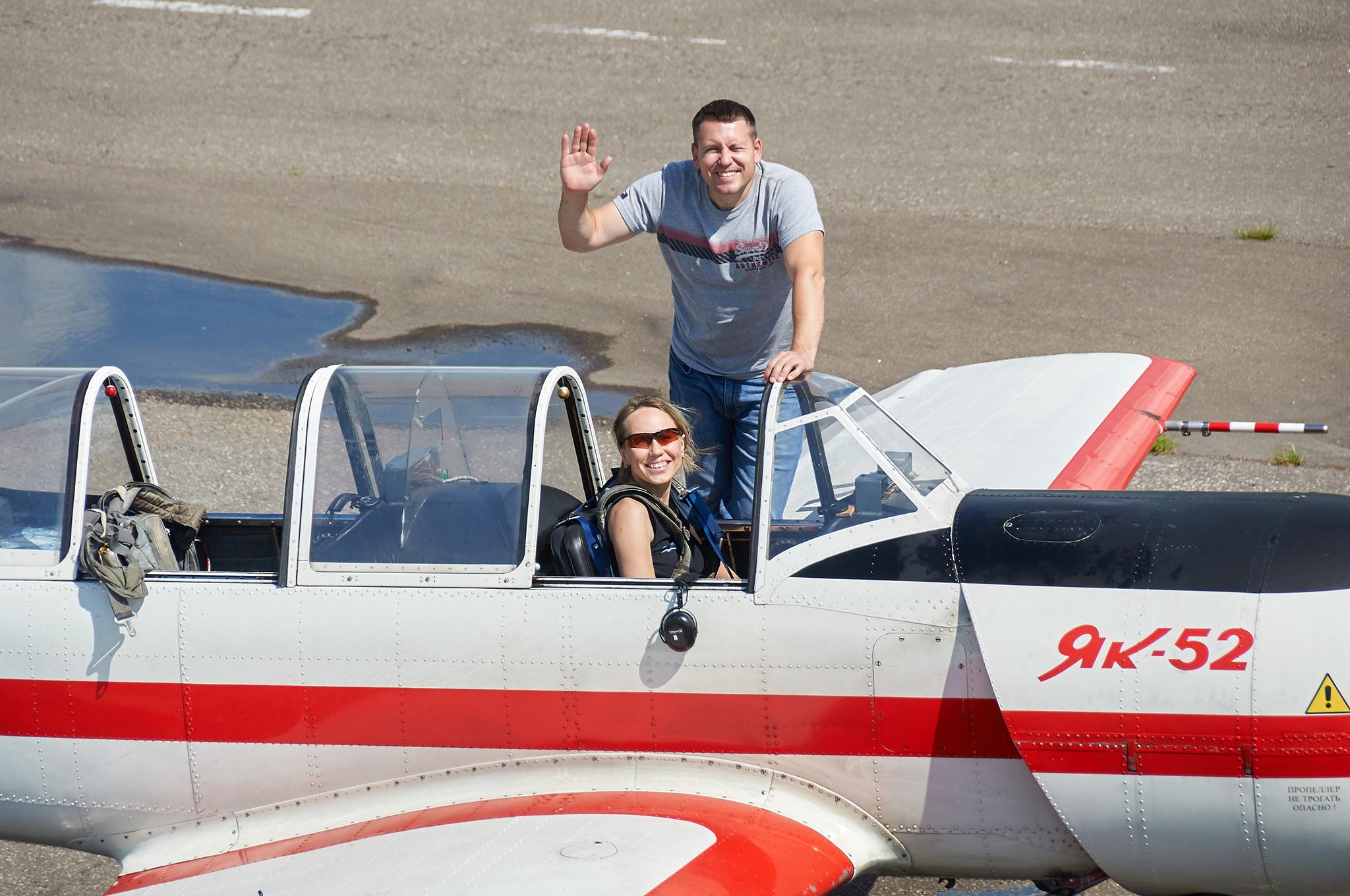 More from my first training day in the Yak-52 - Ещё о моём первом тренировочном дне на Як-52