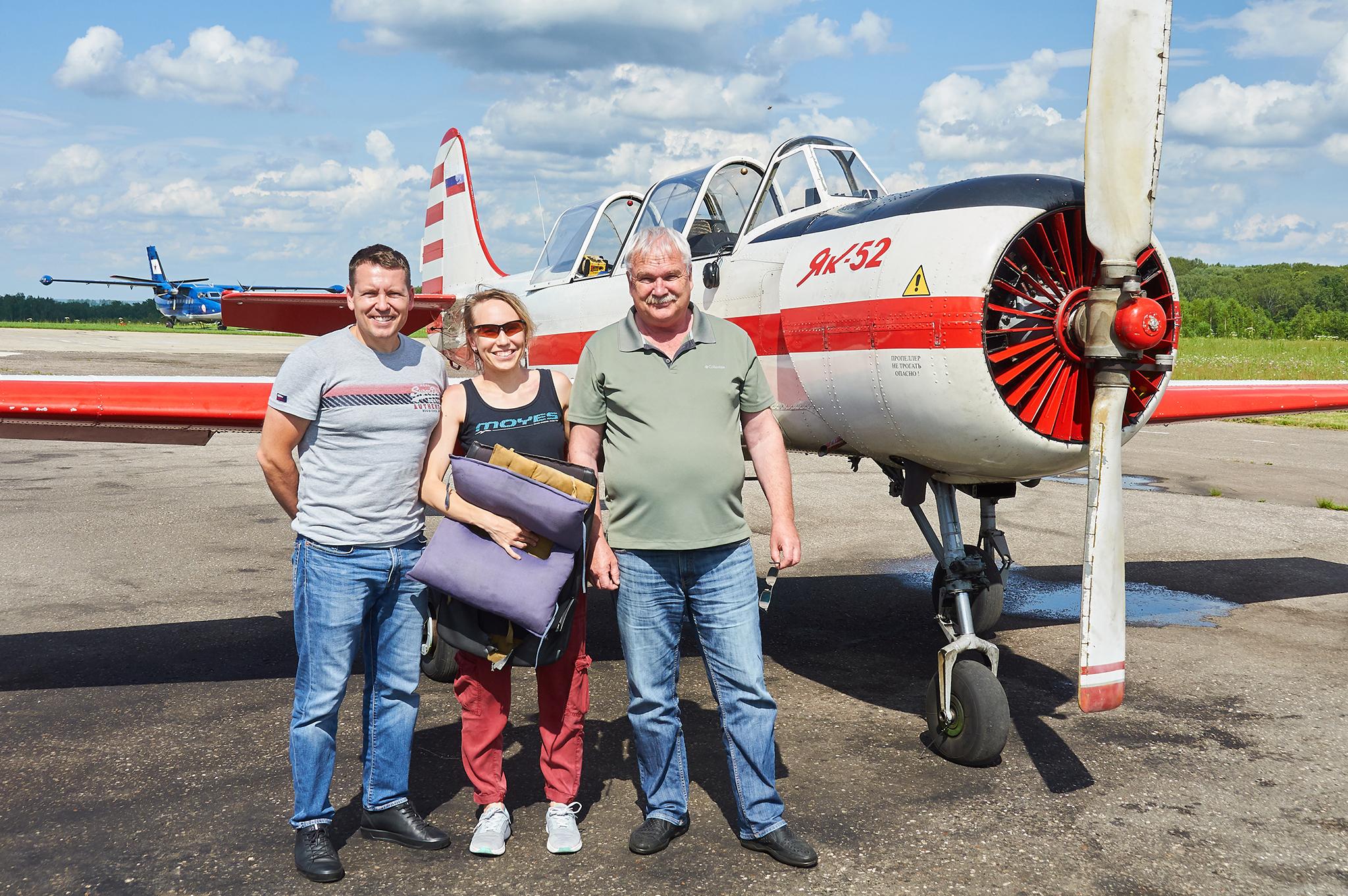 First training flight in the Yak-52 - Первый тренировочный полёт на Як-52