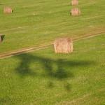 Low over round hay bales ~ Низенько над любимыми катышками