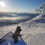Yulia on Mustag mountain ~ Юля на вершине Мустага