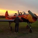 Andrey and Vladimir after an evening flight ~ Андрей с Вовой после полета