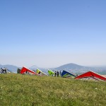Hang gliders during Russian Open 2021 ~ Дельтапланы во время Чемпионата России 2021